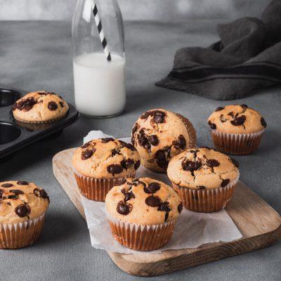 Muffin con l'okara di mandorle