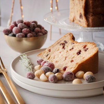 Panettone with Cranberries and Macadamia Nuts Recipe