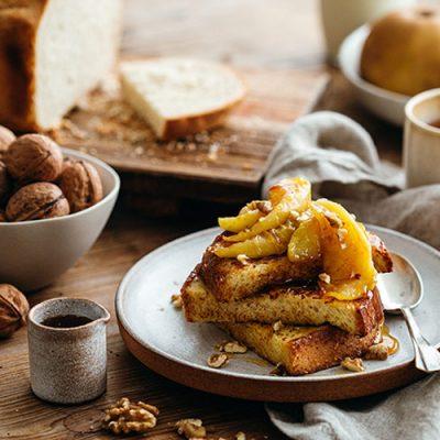 Recette de pain perdu aux pommes ou à la confiture