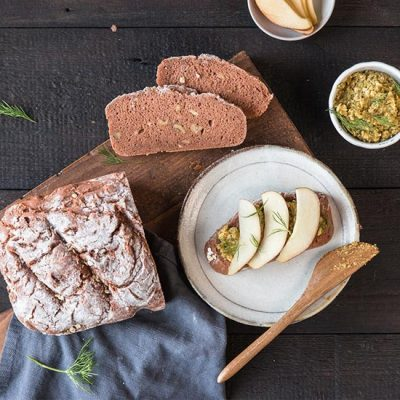 Savoury Dark Gluten-Free Bread Recipe with Cacao and Fennel Recipe