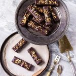 Recette de barres chocolatées et caramel