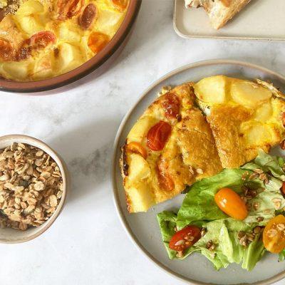 Recette de tortilla soufflée aux tomates cerises