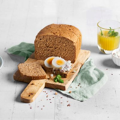 Whole Grain Spelt Bread Recipe with Sesame and Flax Seeds