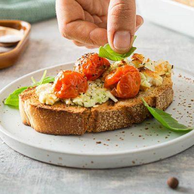 Feta al forno con estratto di basilico